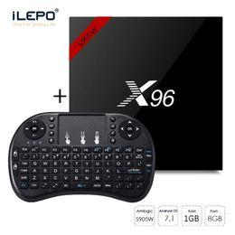 Claviers de prix en Ligne-Bas prix clair x96 S905W TV Box Android 7.1 Clavier sans fil Mini rii i8 claviers combo USA entrepôt