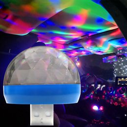 Para Casa do partido do carro USB Led Mushroom Luz Mini Led Light Partes Mudar de música Cor de