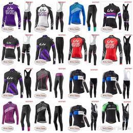 camisetas de ciclismo orbea Rebajas LIV Equipo de ORBEA Ciclismo Invierno térmica Fleece jersey (babero) pantalones conjuntos Bike Wear invierno bicicleta Ropa mtb Equitación ropa deportiva al aire libre D2024