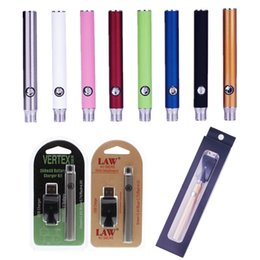 2019 batteria della penna a vape variabile della vape 510 della discussione della batteria di preriscaldamento Funzione Cera sigarette e vaporizzatore Vape Pen Batterie variabile Tensione della batteria Vape cartuccia Vape