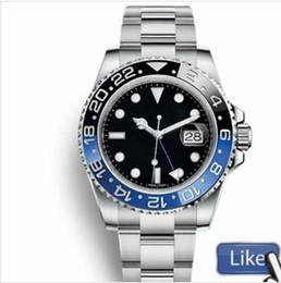 2019 relógios de luxo automático gmt homens luxo GMT Cerâmica Bezel Mens Mecânica Aço Inoxidável Movimento relógio automático designer de Esportes Auto-vento Relógios de pulso mestre relógios de luxo automático gmt barato