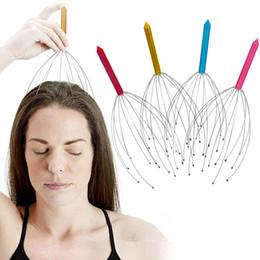 massagem equipamentos atacado Desconto Atacado 1000 pçs / lote aço Inoxidável ferramenta de Massagem De Metal Cabeça Handheld Couro Cabeludo Massageador Massagem Stress Relaxar Relive Equipamentos