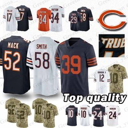 High-quality Chicago bears Jerseys 39 EDDIE JACKSON 58 Roquan Smith 52  Khalil Mack 10 Mitchell Trubisky 24 Howard Jersey 2cea8882c