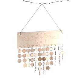 Tabuleiro on-line-New DIY Sinal de madeira de Natal Calenda aniversário R Board Datas Xmas partido Home Hanging Decor presente Calendários de Advento
