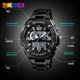contando relógio Desconto SKMEI Homens Esportes 12/24 Horas Relógio de Pulso Vida À Prova D 'Água 3 Contagem de Tempo Para Baixo Alarme Relógios Chronograph Relogio masculino 1333