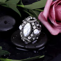 Silberamerikanische männer diamantringe online-Exquisites tibetanisches Silber mit Diamant- und Türkisringen, beliebte neue hohle geschnitzte europäische und amerikanische Ringe für Männer und Frauen