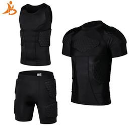 YD Neue Fußball Rugby Basketball Rüstung Weste Shorts Anti Crash Sportwear Sport Sicherheitsweste Kurz Mit Wabenpolster Basketball Anzug # 629982 von Fabrikanten