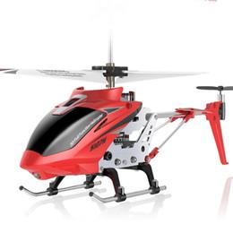 2019 3.5ch helicóptero Nueva llegada RC helicóptero SYMA S107H 2.4G 3.5CH Hover Altitude Mantener RC Drone W / Gyro RTF Quadcopter juguetes para Boy Kid regalo 3.5ch helicóptero baratos