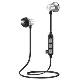 Auriculares de cuello online-Alta calidad M12 Wireless Bluetooth Headset Soporte para el cuello Magnético Deporte Super Bass Auricular con buena calidad para iphone xr xs max