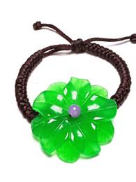 2020 große armbänder für frauen großhandel Koraba handgemachte Knit-Seil Große Blume lila Jade Größe anpassen Frauen Armband Gems Zubehör-Geschenke en gros rabatt große armbänder für frauen großhandel