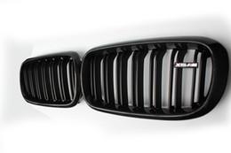 Due righe ABS Coloer Carbon black Grille Fit per BMW X5 X6 F15 F16 da