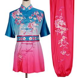 Bordado chinês Wushu uniformes Kungfu roupas taolu equipar artes marciais equipar vestuário changquan para mulheres dos homens da menina do menino adultos crianças de