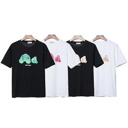 magliette da stampa angelo Sconti Palm Angeli progettista del Mens magliette High Street camicie a maniche rotti Camicie Orso stampa allentata T T Shirt casual