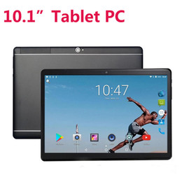 Touch screen per pc online-Quad Core 10 pollici MTK6582 IPS Capacitivo Touch Screen Dual SIM 3G Phablet Phone Tablet PC 10.1 pollici Android 4.4 1 GB RAM 16GB ROM
