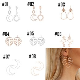 Caractère métallique en Ligne-New style of Europe and America 2020, metallic geometry style earring, individual character tide is irregular, banquet jewelry
