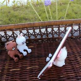 gattino di mele Sconti Kitty Cartoon Stereo Mobile Phone Staffa Cartoon Brown Bear Bag appeso ornamenti può essere coniglio Mobile Shell telefono pendente portatile nuovo Mob