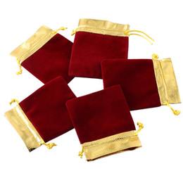 Canada MoneRffi New 1 Set Grace Bijoux Cadeau Sacs Sac de Cordon Emballage de Bijoux Emballage Portable Poche Cadeaux De Mariage Sacs D'or 25 PCs supplier jewelry packs Offre