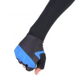halbe fingerhandschuhe lange ärmel Rabatt Fahrradhandschuhe Half Finger Fahrradhandschuhe Langarm Anti-Skid Outdoor Fahrrad Half Finger Reiten Sport Training (M)