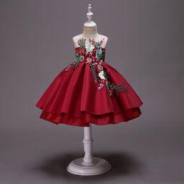 2019 12-месячные девушки фиолетового платья Девочки от 3 до 10 лет, летние вышитые платья, детские балетные пачки, детская одежда для детей и подростков, бутик из тюля, R1AA806DS-38