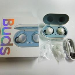 Auriculares inalámbricos de oído online-Brotes 2019 TWS Logotipo de la marca Mini Bluetooth Auricular gemelos del oído del auricular estéreo inalámbrico Brotes en la oreja Con el zócalo de carga