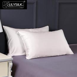 2019 fundas de almohada hechas en casa Lilysilk 100 Funda de almohada de seda natural para cabello 25MM Terse Pure Mulberry Pillow Case