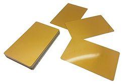 подогрев карточек Скидка Визитная карточка Metal Straight Edge Золотая сублимационная заготовка Жара 100 шт.