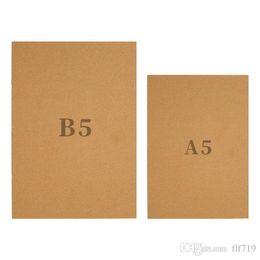 reservar páginas em branco Desconto B5 Kraft Caderno de Papel Tampa da Cópia Da Mão Notepads Ponto Em Branco Notepad kraft Capa Cadernos Diário Papel Jornal Artigos de Papelaria DHL