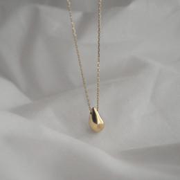 Canada Meilleure vente populaire 925 collier en argent simple goutte forme pendentif collier pour femme et fille comme cadeau et porter tous les jours Offre