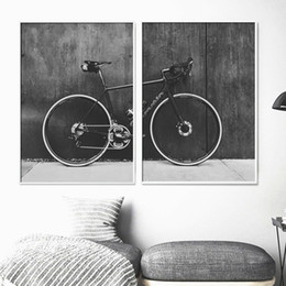 mirrors for bikes Coupons - Wall Art Nordic Modular Poster HD Home Decoration Bicycle Mountain Bike Canvas Painting Printed Landscape for Gifts Hang Picture