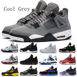 Nike air jordan 4 AJ4 Новое поступление Cool Grey Travis x 4s Houston Blue Black мужские 4 Баскетбольные кеды Cactus Jack For Men Scotts Кроссовки спортивные кроссовки 7-13 от Поставщики новые крутые мужские туфли