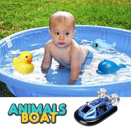 barco de juguete de metal Rebajas 2.4gh RC Barco Mini Racing Speedboat juguete de control remoto para niños Rc Modelo Ship Support Land driving nuevo diseño