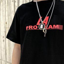 Strumenti classici online-T-SHIRT CON ATTACCO PALA PRO 19SS T-Shirt classica con logo stampato T-shirt estiva da uomo traspirante con maniche corte HFYMTX493