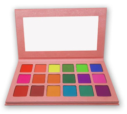summer eye shadow Coupons - Summer Colorful Eyeshadow Palette Matte 18 Colors Shimmer Blendable Bright Eye Shadow Pallete Silky Powder Pigmented Makeup Kit