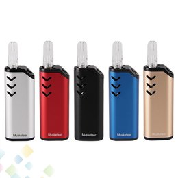 Authentic ECT Musketeer Kit 650mAh Box Mod preheat Battery Vape Pen 510 Thread Cartridges Tank Atomizer DHL Free