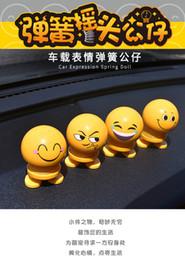 Araba İfade bahar bebek araba dashboard iç nod sevimli gülümseme bebek araba dekoratif ifade bahar sallamak kafa yaratıcı oyuncaklar nereden