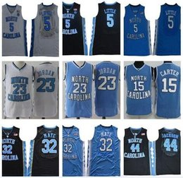 michael jackson azul Desconto 2019 NCAA North Carolina Tar Heels 5 Nassir Pequenas 32 Luke Maye 15 Carter 23 Michael Jackson 44 Faculdade azul Basketball Jerseys costurado