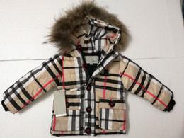 Giacche calde per i bambini online-vendita calda 2019 marchio capispalla per bambini ragazzo e ragazza inverno caldo con cappuccio felpa cappotto di spessore bambini cotone cappotto piumino bambini giacche vestiti