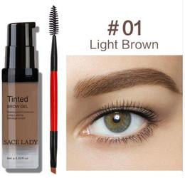 8eb620b141b SACE LADY Eyebrow Gel Tint 6 Colors Makeup Pomade Brush Kit Brown Henna Eye  Brow Cream Make Up Paint Set Enhancer Wax Cosmetic