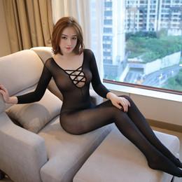 Женщины Холтер Сексуальное белье Sawtooth Графика эротическое белье Горячие продукты секса Черный Сексуальные порно костюмы Bodystockings S703 от