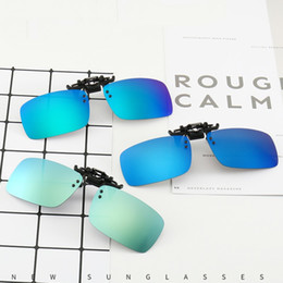 2019 lunettes de rabat Clip Lunettes de soleil polarisées et dossier UV400 Lunettes de vue Cadre Miroir Objectifs Night Vision Flip Up Lunettes 3 Taille en gros promotion lunettes de rabat