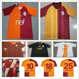 camiseta de fútbol naranja Rebajas 2019 2020 Galatasaray Camisetas de fútbol GOMIS LINNES CIGERCI BELHANDA FERNANDO FEGHOULI DONK Custom Orange Home 19 20 Camisetas de fútbol