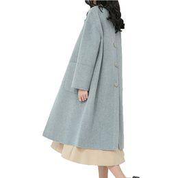 Canada Manteau de laine veste femme coréenne vintage automne hiver veste femmes cachemire rose mince long manteaux Casaco Feminino ZT1612 cheap korean jacket for women pink Offre