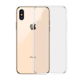borsa del cellulare di neoprene Sconti Custodia trasparente antiurto per iPhone XXS XS MAXXR 8 7 6 Custodia trasparente in TPU con adesivo morbido