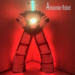 2020 costume del robot tuta robot LED costume / abbigliamento LED / luce adatta / vestiti robot LED / Alexander costume del robot economici