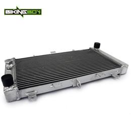 2019 ventiladores de arrefecimento BIKINGBOY Radiador de Arrefecimento de Água Do Núcleo de Alumínio Do Motor Para Z 750 Z750 2004 2005 2006 04 05 06