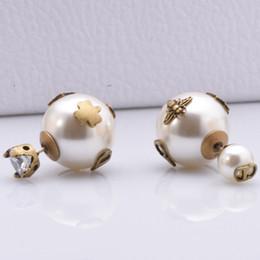 2019 orecchini di marca migliori ape sfera di cristallo orecchini per gli orecchini dei monili delle donne del progettista monili di lusso perla delle donne aggancio di cerimonia nuziale fortunato