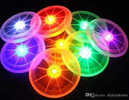 brinquedo do ufo das luzes de vôo Desconto Venda por atacado - Colorido Frisbee UFO Kid Toy Spin LED Luz Ao Ar Livre Brinquedo Disco Voador Disco Educacional UFO Crianças Brinquedos de Praia Brinquedo Esportes