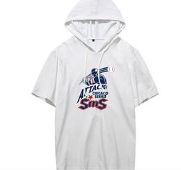 Материал рубашки стиль онлайн-Мужские рубашки с половиной рукавов с капюшоном Большой размер Модный принт Лето Повседневный стиль Мягкий материал Европейский ветер Топы с коротким рукавом