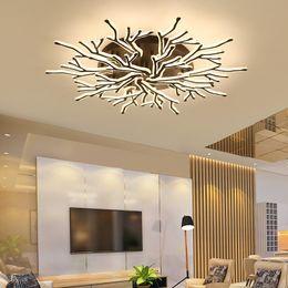 2020 lustre do quarto principal Preto acabamento moderno de teto LED Antler Candelabro Iluminação Acrílico lâmpada Plafond para sala Master Room Bedroom desconto lustre do quarto principal