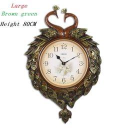 Relógio de swing on-line-Grande Retro Relógio De Parede Relógio De Parede Mecanismo Restaurante Mute Swing Relógio De Pêndulo Relogio Parede Home Decor Relógios